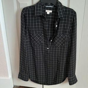 Merona black and white shirt